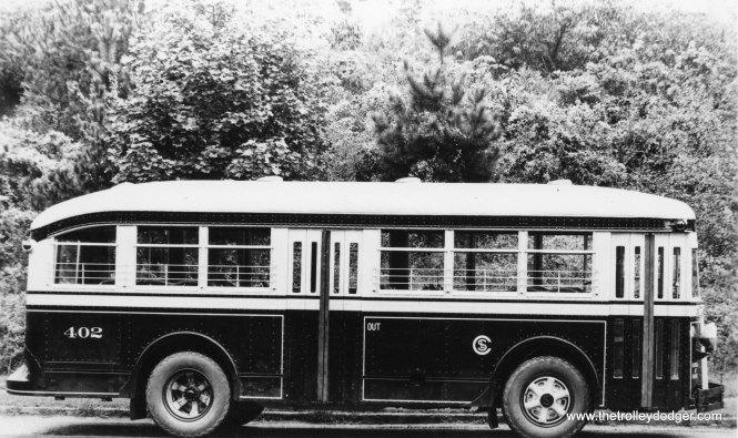 "Bill Robb: ""Chicago City Railways 402 is a 1934 ACF H-13-S."""