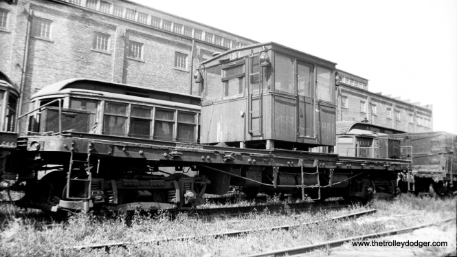 CO&P freight motor 1523 at the Ottawa Shops in 1934, presumably around the time of abandonment.
