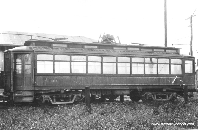 CO&P first #60 at Depue in 1910, a product of the Danville Car Company.