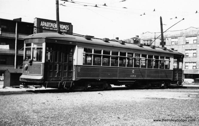 CSL 3154 at the Clark-Arthur loop. (Railway Negative Exchange Photo)