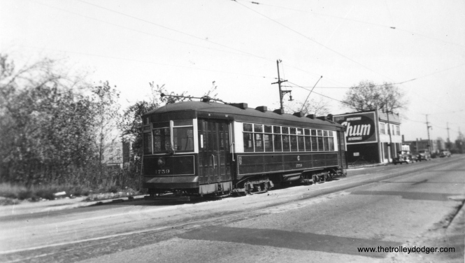 "CSL 1759 on through route 1, Cottage Grove-Broadway. (Railway Negative Exchange Photo) George Trapp: ""CSL #1759 is on Devon approaching Kedzie."""
