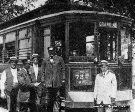 The Grand Avenue streetcar at the end of the line in 1921. 72nd Avenue was later renamed Harlem. (Illinois Digital Archives Photo)