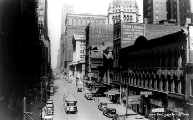 Looking north from Clark and Van Buren circa 1930. (Fred J. Borchert Photo, Edward Frank, Jr. Collection)