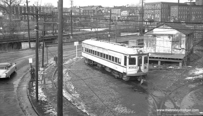 LVT 702 at Rink Siding in Norristown in 1951.