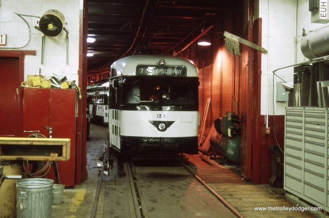 PCC 21 in the shop under Penn Station.