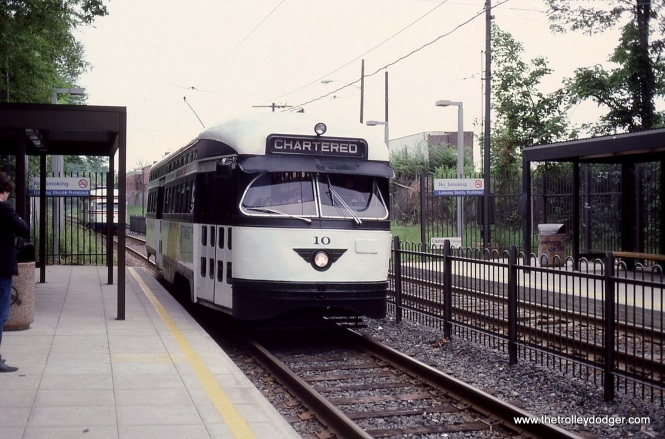 PCC 10 makes a photo stop at Davenport Avenue Station.