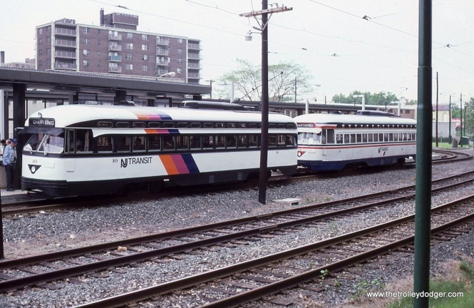 Cars 10 & 11 during a photo stop at the Franklin Avenue station.