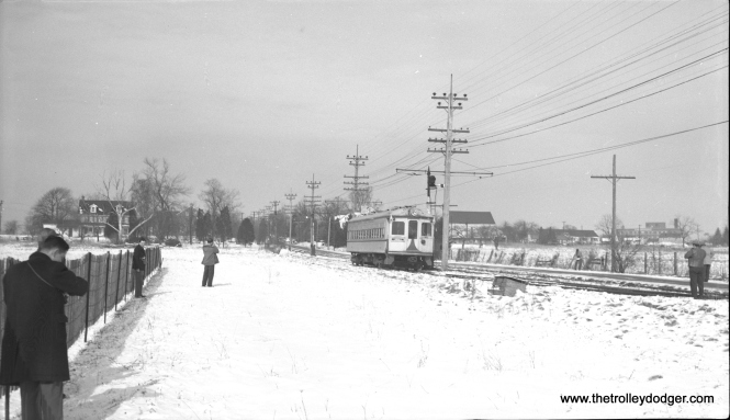 LVT 702 at Locust Siding on February 11, 1951.