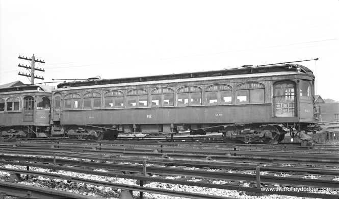 LVT 805 at 69th Street terminal in Upper Darby. This car was built by Jewett circa 1912-13. Apparently this car has been preserved and is privately owned but not operable.