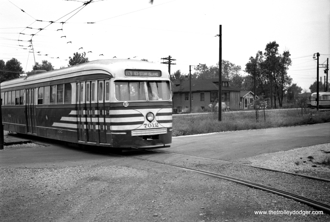 CTA prewar PCC 7012 at the west end of the 63rd Street line (63rd Place and Narragansett). Not sure which direction we are facing.