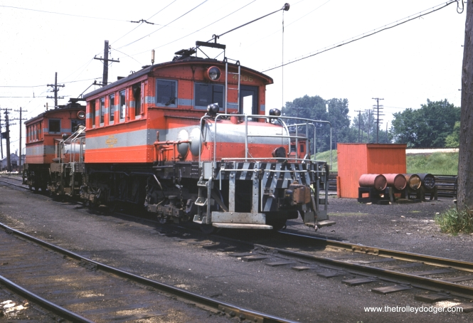 CA&E Motor 4006 at Wheaton Shops. (William Barber Collection)