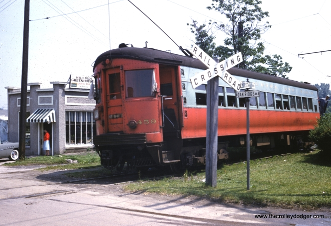 CA&E Car no. 459 End of Track 12th St., Hillside, IL, June 9, 1957. (William Barber Collection)