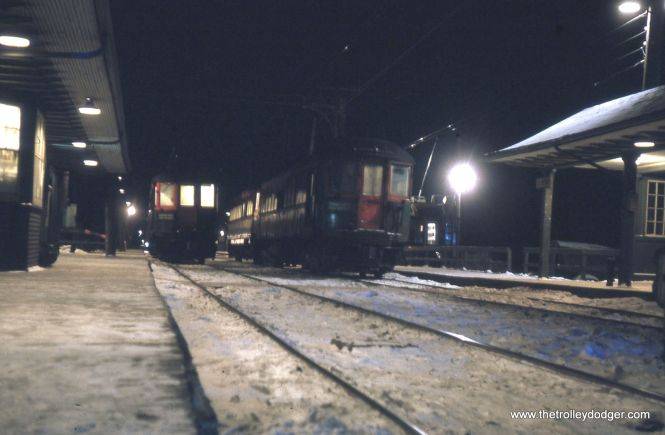 The North Shore Line in January 1963, shortly before the end.