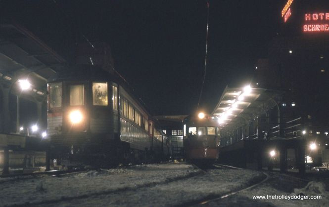 The North Shore Line Milwaukee terminal in January 1963.