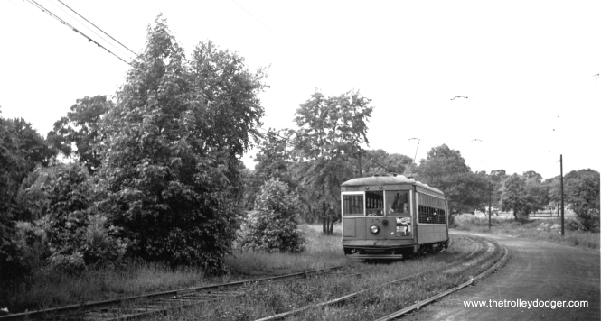 New York and Queens Transit 35. Streetcar service ended in 1937.