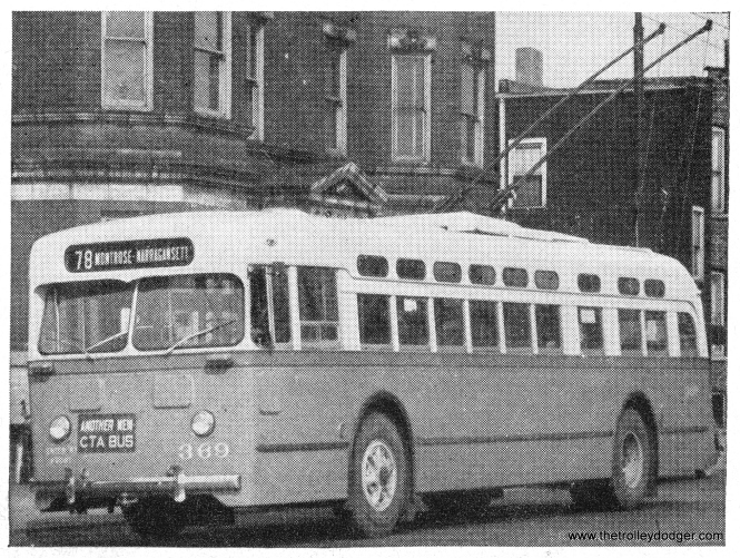 """Another New CTA Bus,"" in this case, is a trolley bus. These were put into service on Montrose Avenue in late March, 1948."