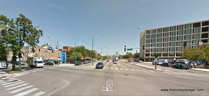 Ogden and California Avenue today, looking to the northeast.