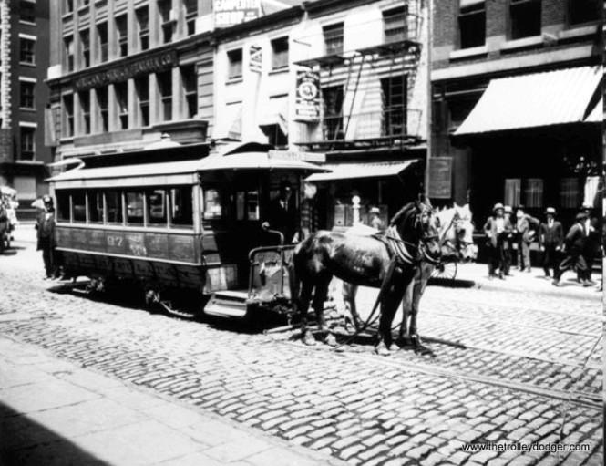 A Brooklyn horsecar.