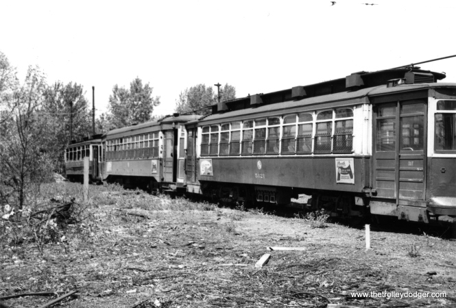 CTA 5421 at South Shops on May 20, 1951.