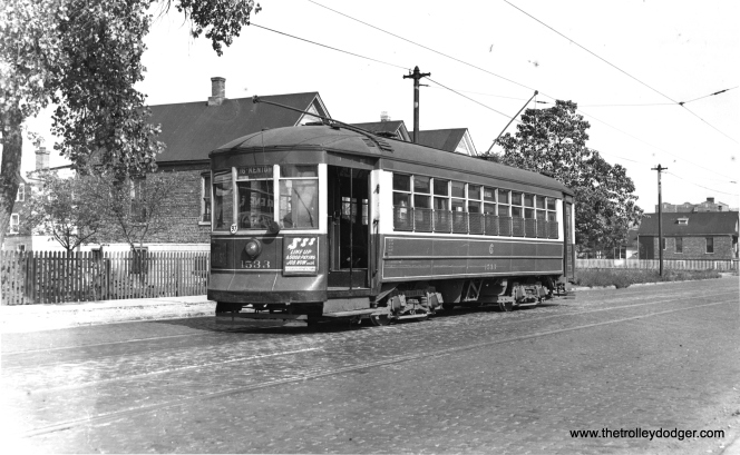 CSL 1533, signed for 16th and Kenton, on September 27, 1947, just a few days before the CTA takeover.