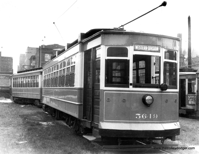CSL 5649 at Division and Western. This was another Brill-American-Kuhlman car. (Krambles-Peterson Archive)