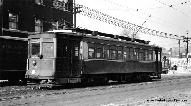 CSL Pullman 431 on Cicero Avenue, February 22, 1940. (John F. Bromley Collection)