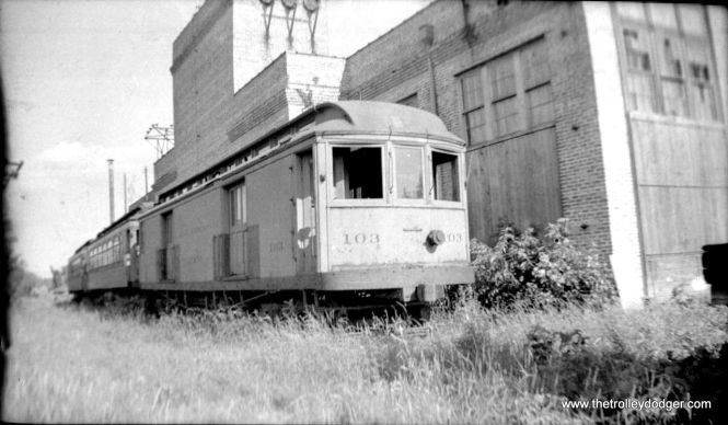 "According to Don's Rail Photos, ""103 provided freight and express service."""