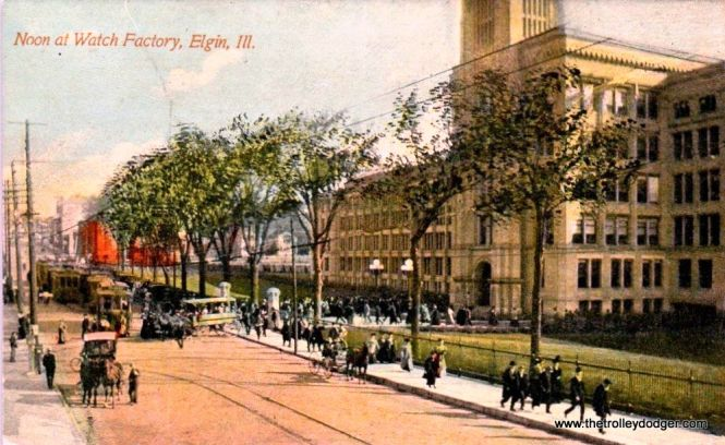 The Elgin Watch factory circa 1910. It closed in the 1960s.