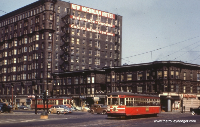 CTA 6284 at Indiana Avenue and Cermak circa 1951. (Earl Clark Photo)
