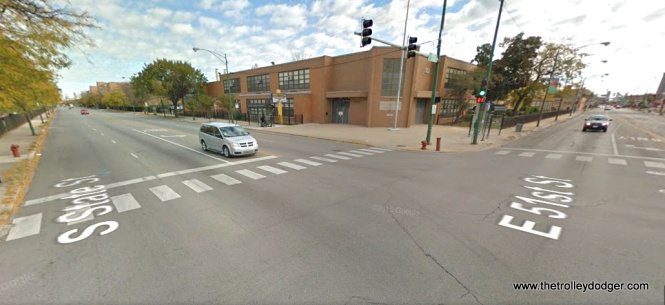 51st and State today. The school in the background is now called the Crispus Attucks Community Academy.