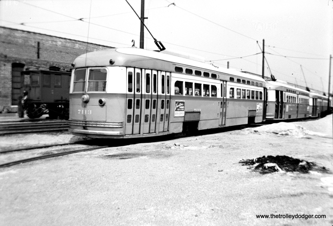 "According to George Trapp, CTA 7113 ""appears to be at Devon Station at the southwest end of the south yard."""