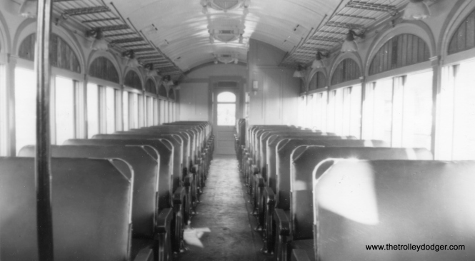 An interior view of newly renovated LVT 812, as it looked on November 11, 1939. It is a shame that this car was not saved.