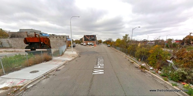 The same location today. Fifth Avenue is cut off by the expressway, probably because it would have crossed at an angle and wasn't considered that major of a street. It only goes just over a mile west of here anyway. Fifth Avenue has also been truncated at Madison Street, reducing its importance even further.