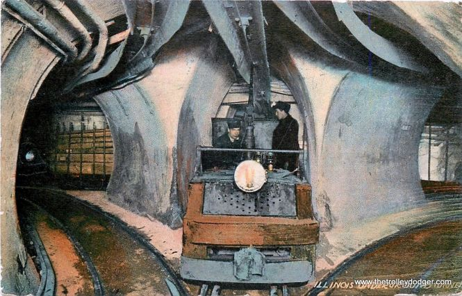 """This junction of three different freight tunnel lines reminds me a bit of Marshfield on the old Metropolitan """"L"""", where three lines came together."""