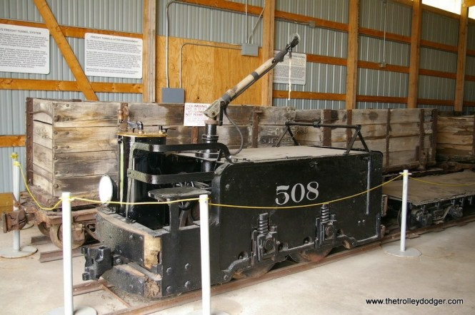 Chicago Tunnel Company locomotive 508 at the Illinois Railway Museum in 2008. (John McCluskey Photo)