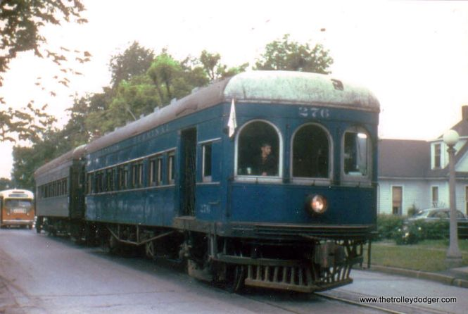 Illinois Terminal 276 and 530 on a 1955 fantrip in Urbana.