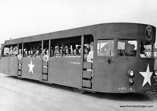 After the fair ended in 1940, some of the streamlined buses were used to transport WAACs.