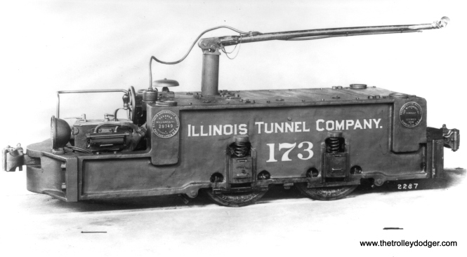 A 1906 Baldwin builder's photo of freight loco 173.