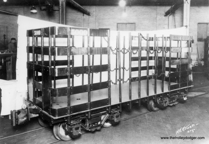 Merchandise rack car 5000, built by Bettendorf Car Co.