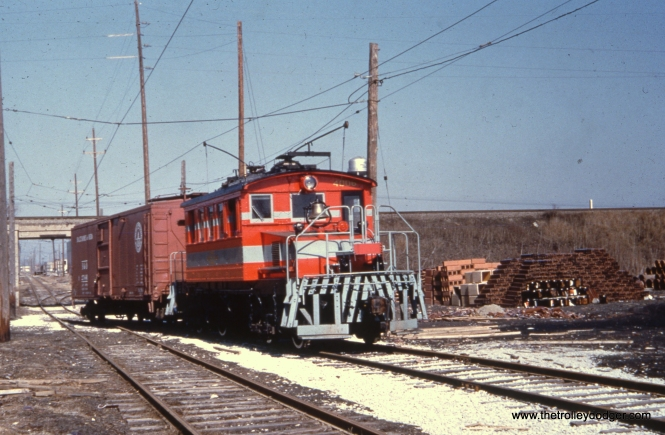 I believe this photo shows CA&E freight loco 4006 on the Mt. Carmel branch.