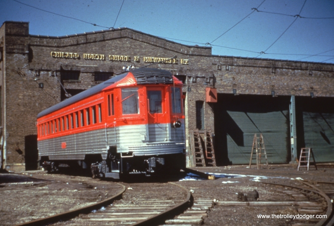 The North Shore Line's Silverliners, when freshly painted and seen in bright sunlight, positively gleamed.