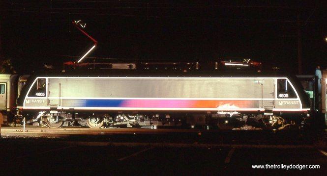 NJT ALP-46 # 4605 in broadside. 10/12/02