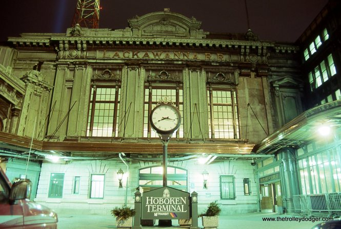 NJ Transit Hoboken Terminal main entrance 3/30/02