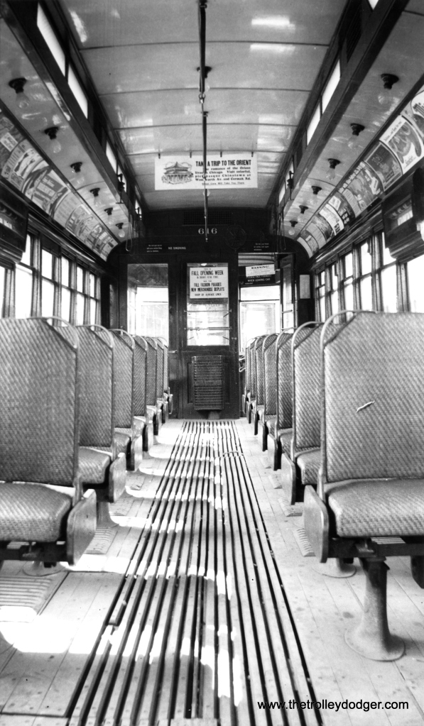 The interior of CSL Pullman 616 during Surface Lines days. (Joe L. Diaz Collection)