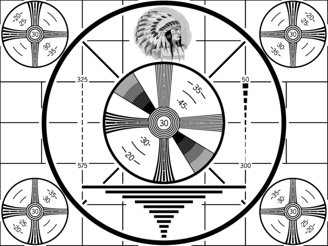In the days before 24 hour a day television, most stations went off the air late at night. Some went completely off the air, leaving nothing but static and white noise, while others broadcast test patterns. This was perhaps the most popular type used and should be familiar to anyone of a certain age.