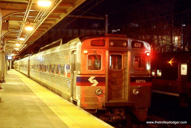 SEPTA Silverliner # 424 at Trenton, NJ