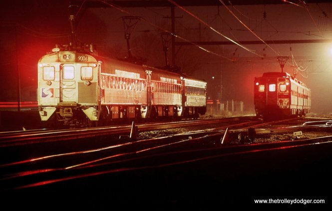 SEPTA Silverliner MU # 9006 has just led a train into West Trenton and is awaiting it's departure time to return east 4/6/01