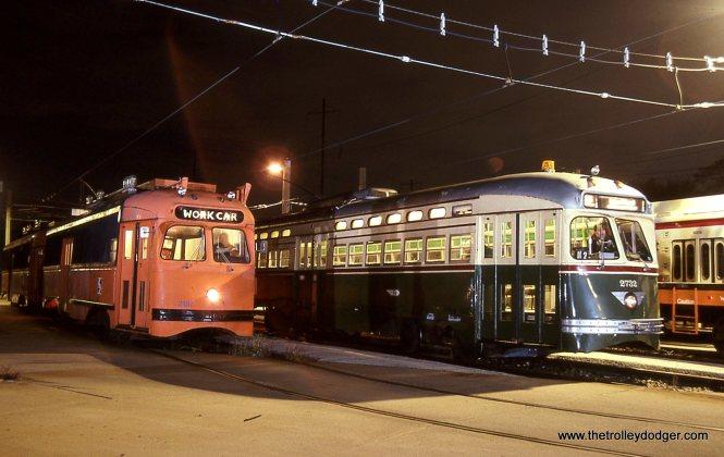 Two SEPTA PCCs street car and work car versions.