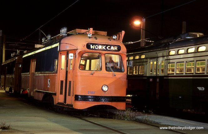 Close-up of work car # 2187