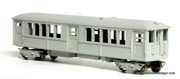 "Island Model Works offers this model of a Chicago 4000-series ""L"" car (among others). This is the earlier 1913 version with center doors that were not used in service this way. The idea was to speed loading and unloading, but the doors were sealed before these cars were put into service and seats were put there. These cars were built by the Cincinnati Car Company and many were in service for 50 years."